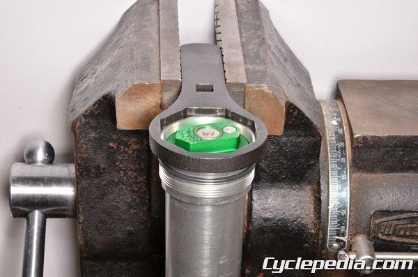 Kawasaki KX250F front fork rebuild damper oil change service seal replacment
