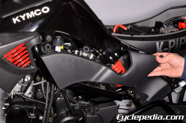 KYMCO K-pipe fenders, seat and bodywork