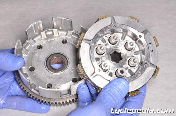 Kawasaki KX65 engine clutch basket hub and clutch plates