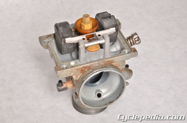 Kawasaki KX65 carburetor rebuild jetting specs float height adjustment