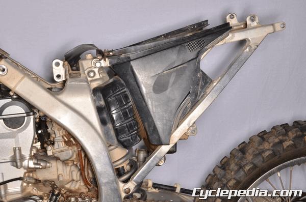 Yamaha YZ450F 2006-2009 subframe airbox fenders seat