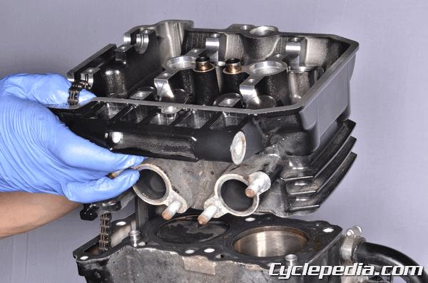 Kawasaki EX300 Ninja 300 Cylinder head camshaft valve lifter shims clearance